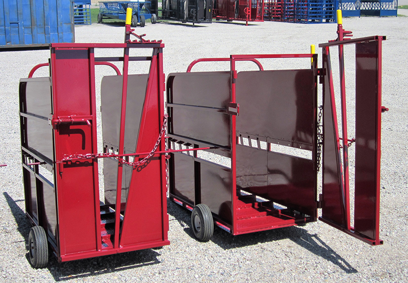 Calf Chute with removable wheels