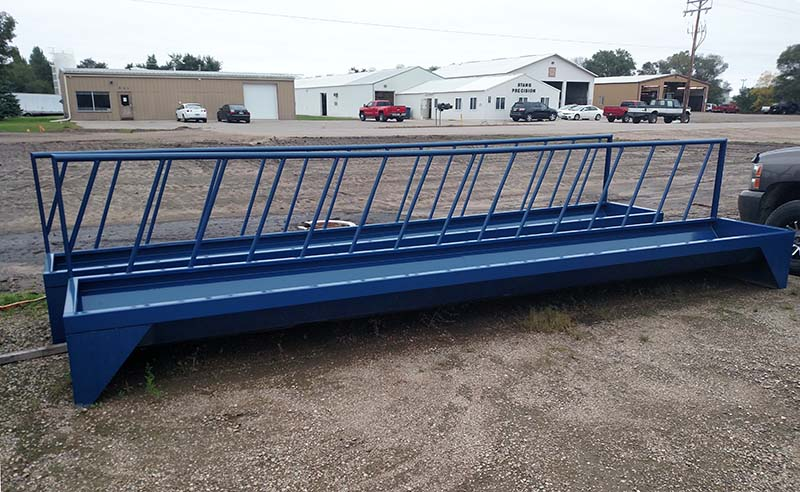 Cattle Feeder with neck bars 4' x 20'